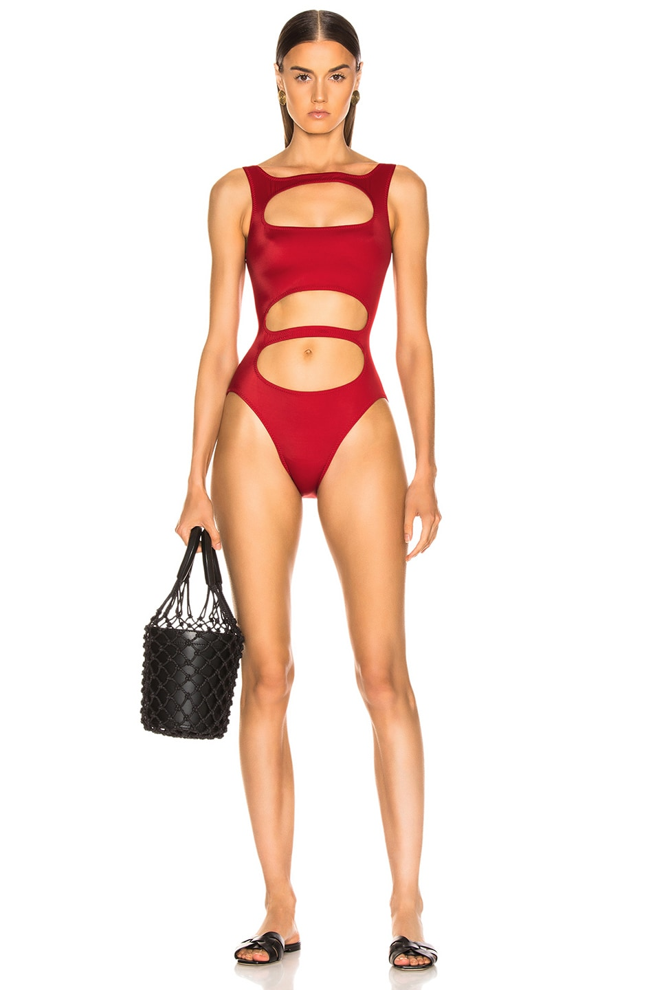 Image 1 of Norma Kamali Bernie Swimsuit in Red