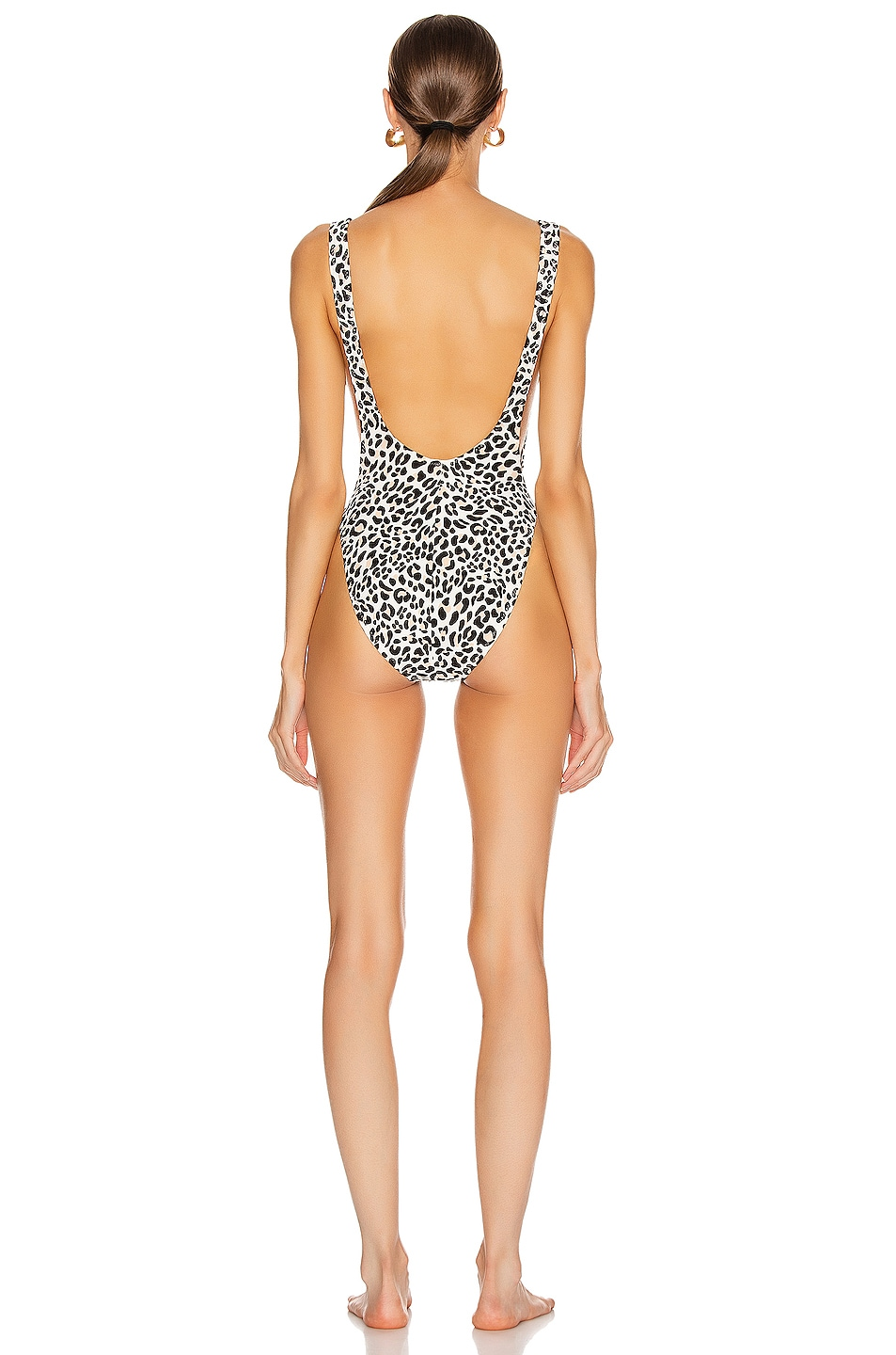 Image 3 of Norma Kamali Marissa One Piece in Baby Leopard