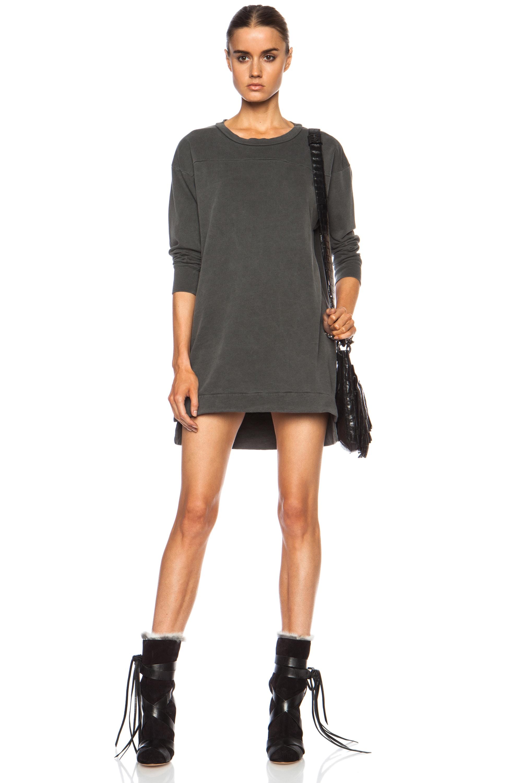 Image 1 of NSF Suz Sweatshirt Cotton-Blend Dress in Pigment Black