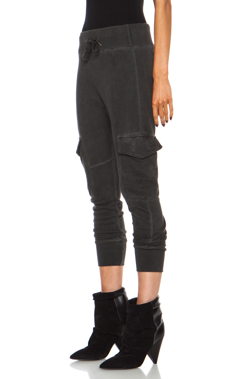 Image 2 of NSF Smith Cotton Sweatpant in Oil Wash Black