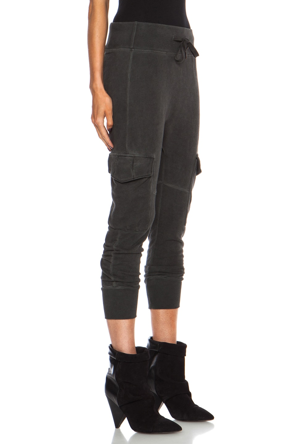 Image 3 of NSF Smith Cotton Sweatpant in Oil Wash Black