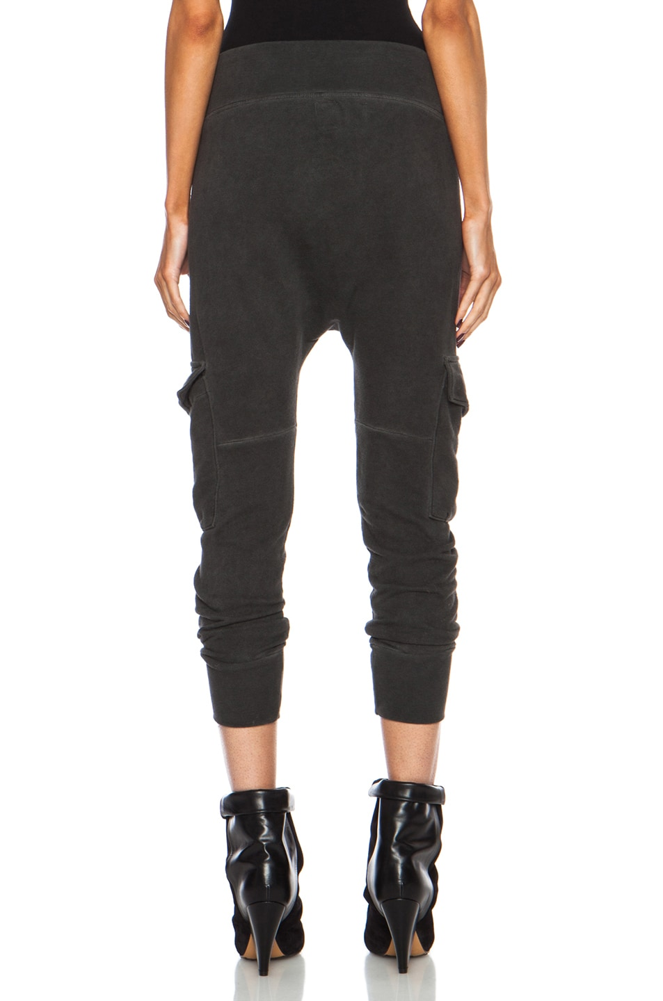 Image 4 of NSF Smith Cotton Sweatpant in Oil Wash Black