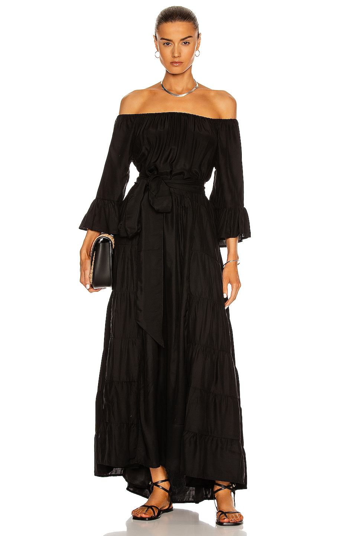 Image 1 of Natalie Martin Mesa Maxi Dress in Black Silk