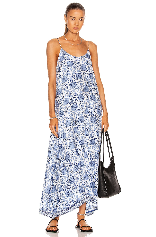 Image 1 of Natalie Martin Heather Maxi Dress in Geranium Print Sapphire