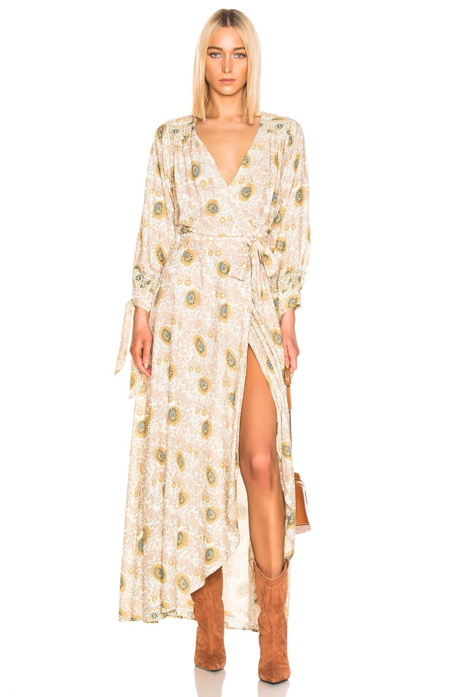 Image 1 of Natalie Martin Danika Long Sleeve Dress in Vintage Flower & Sand