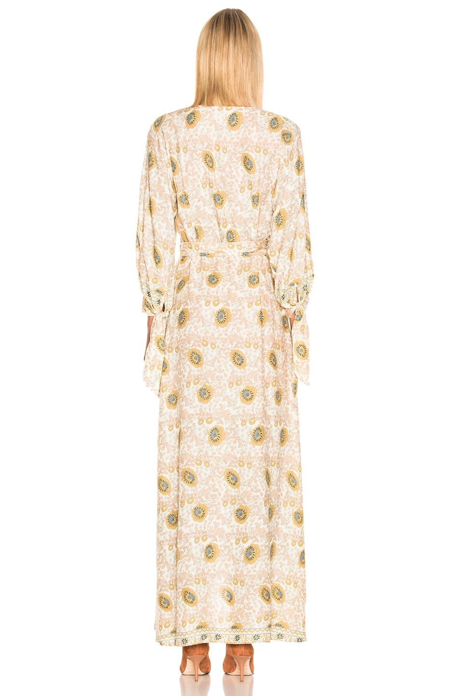 Image 3 of Natalie Martin Danika Long Sleeve Dress in Vintage Flower & Sand
