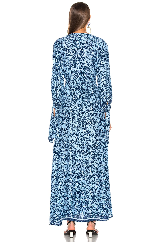 Image 3 of Natalie Martin Danika Long Sleeve Dress in Blue Coral