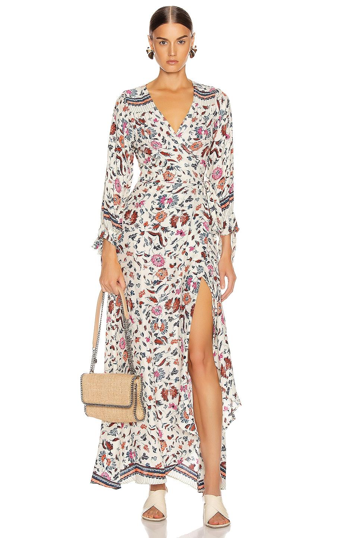 Image 1 of Natalie Martin Danika Long Sleeve Dress in Wildflower Pearl