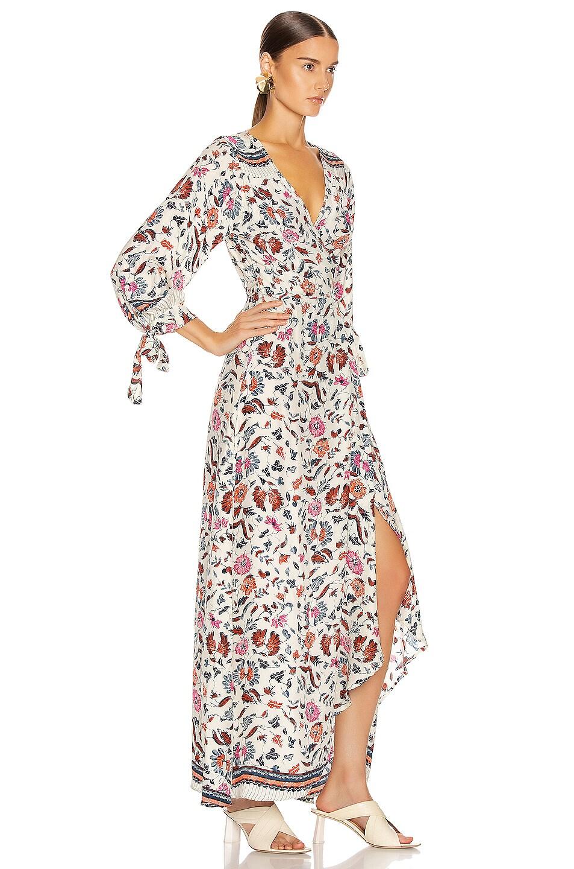 Image 2 of Natalie Martin Danika Long Sleeve Dress in Wildflower Pearl