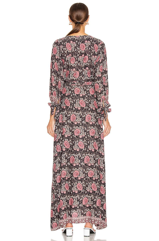 Image 3 of Natalie Martin Danika Long Sleeve Dress in Vintage Flowers Violet