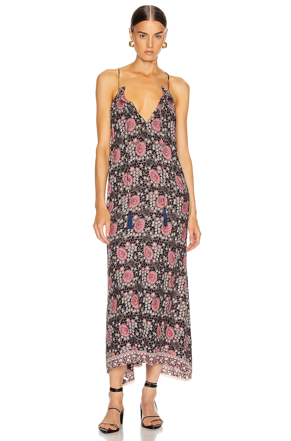 Image 1 of Natalie Martin Marlien Maxi Dress in Vintage Flowers Violet