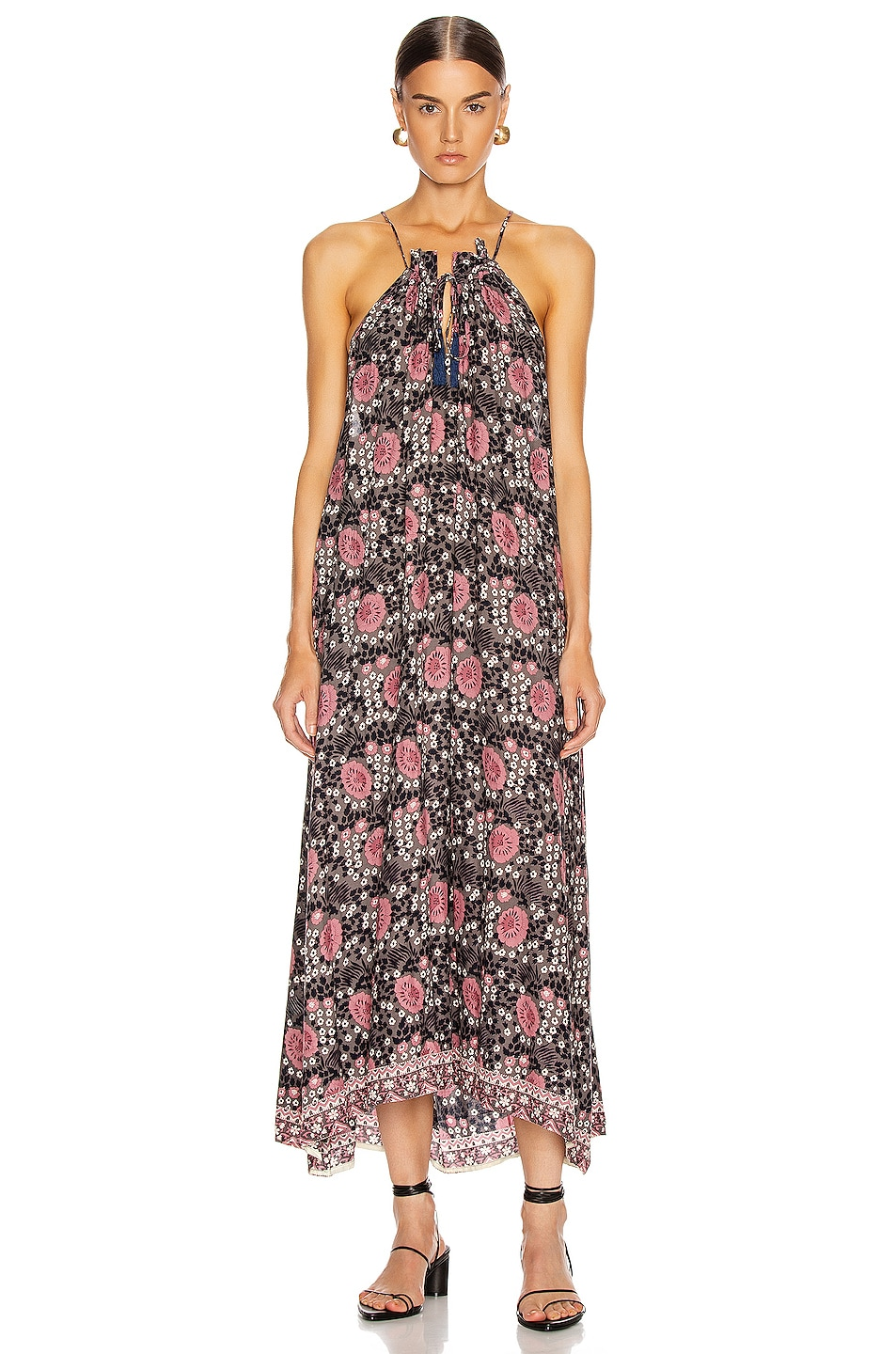 Image 2 of Natalie Martin Marlien Maxi Dress in Vintage Flowers Violet