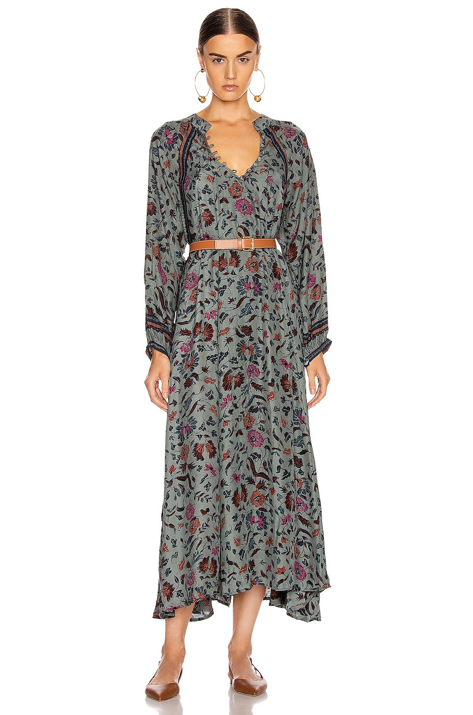 Image 1 of Natalie Martin Fiore Maxi Dress in Wildflower Slate