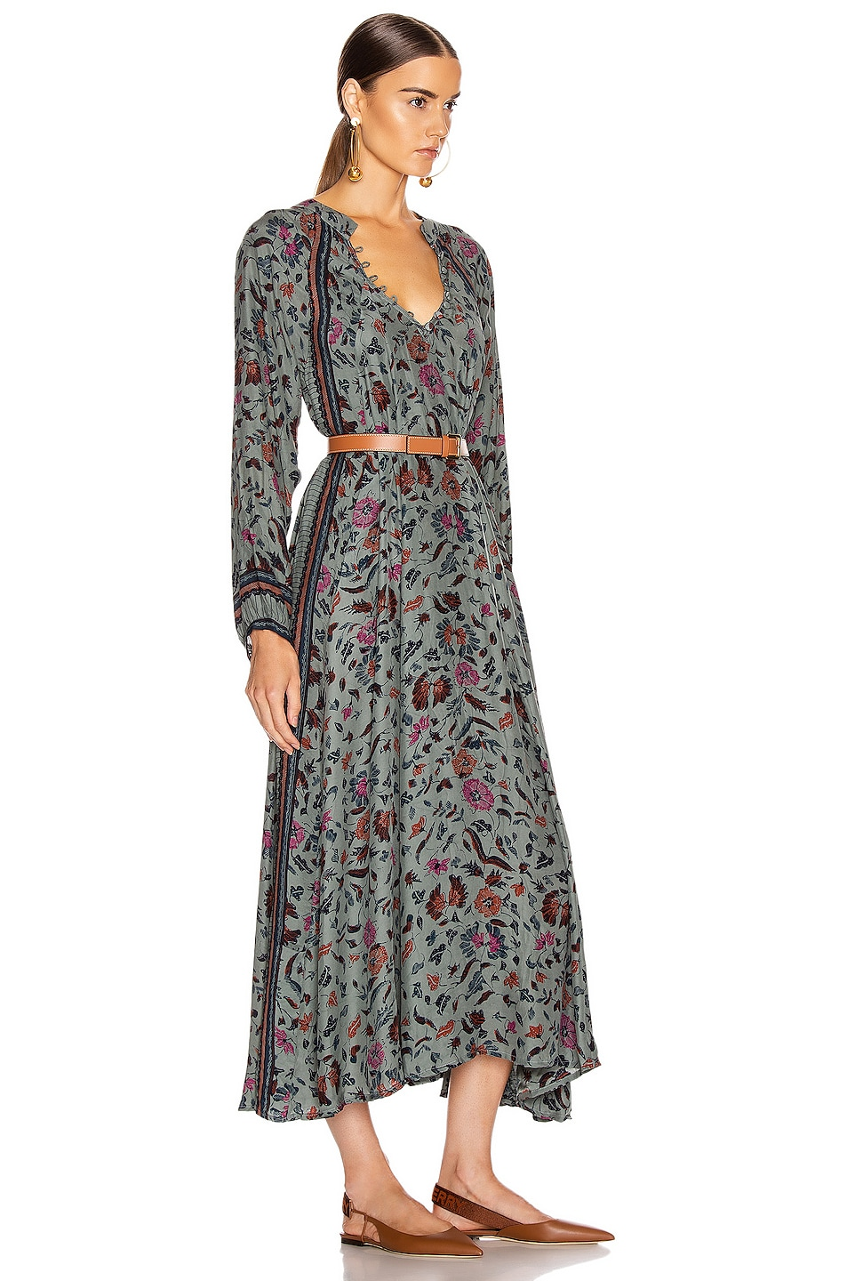 Image 2 of Natalie Martin Fiore Maxi Dress in Wildflower Slate