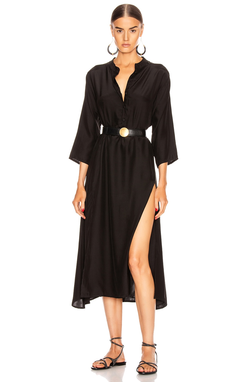Image 1 of Natalie Martin Isobel Dress in Black Silk