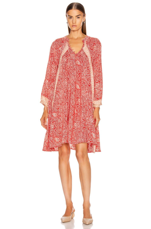 Image 2 of Natalie Martin Fiore Short Dress in Shangri-La Orchid