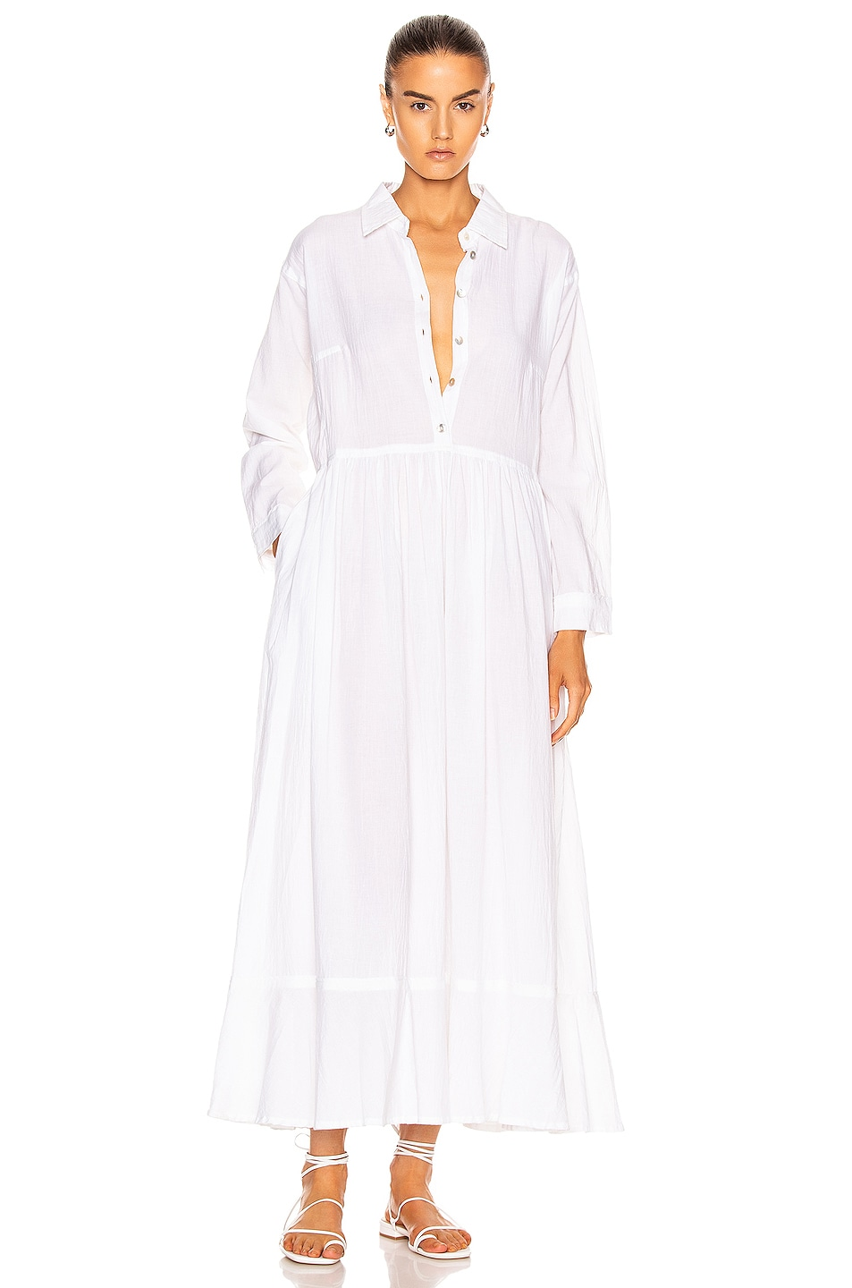 Image 1 of Natalie Martin Heath Dress in Flat Cotton White