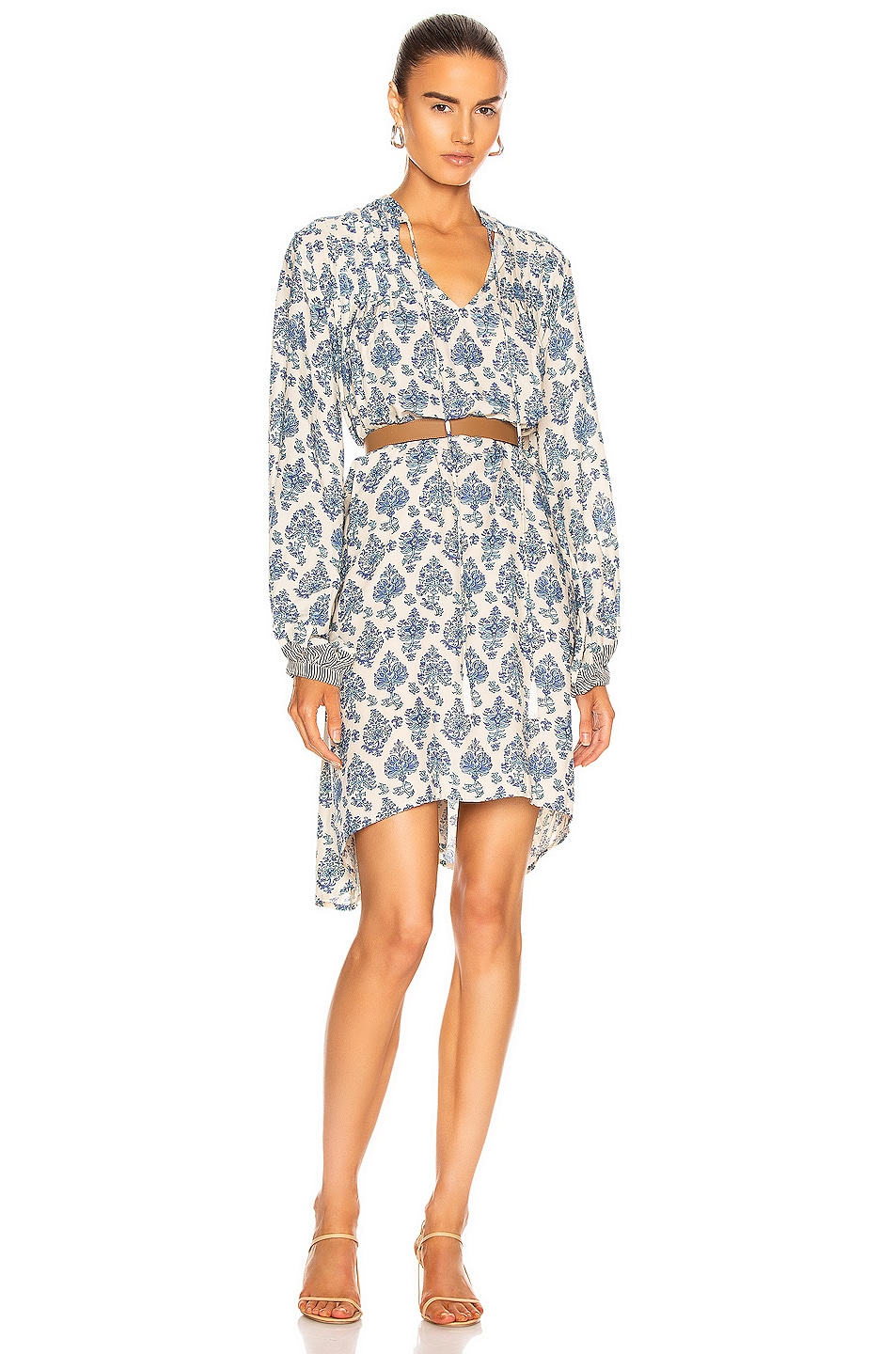 Image 1 of Natalie Martin Lizzy Short Dress in Cyprus Print Blue