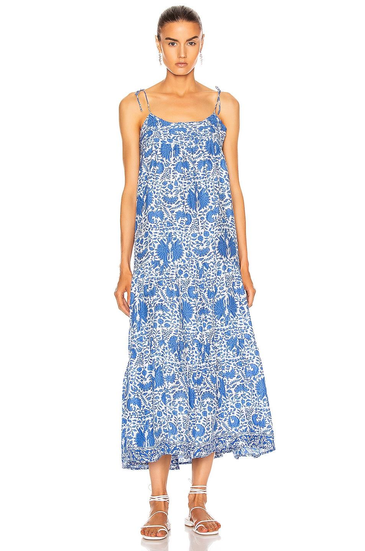 Image 1 of Natalie Martin Melanie Dress in Wing Print Corfu Blue