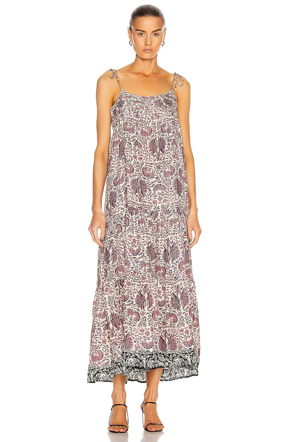 Image 1 of Natalie Martin Melanie Dress in Wing Print Santorini Fig
