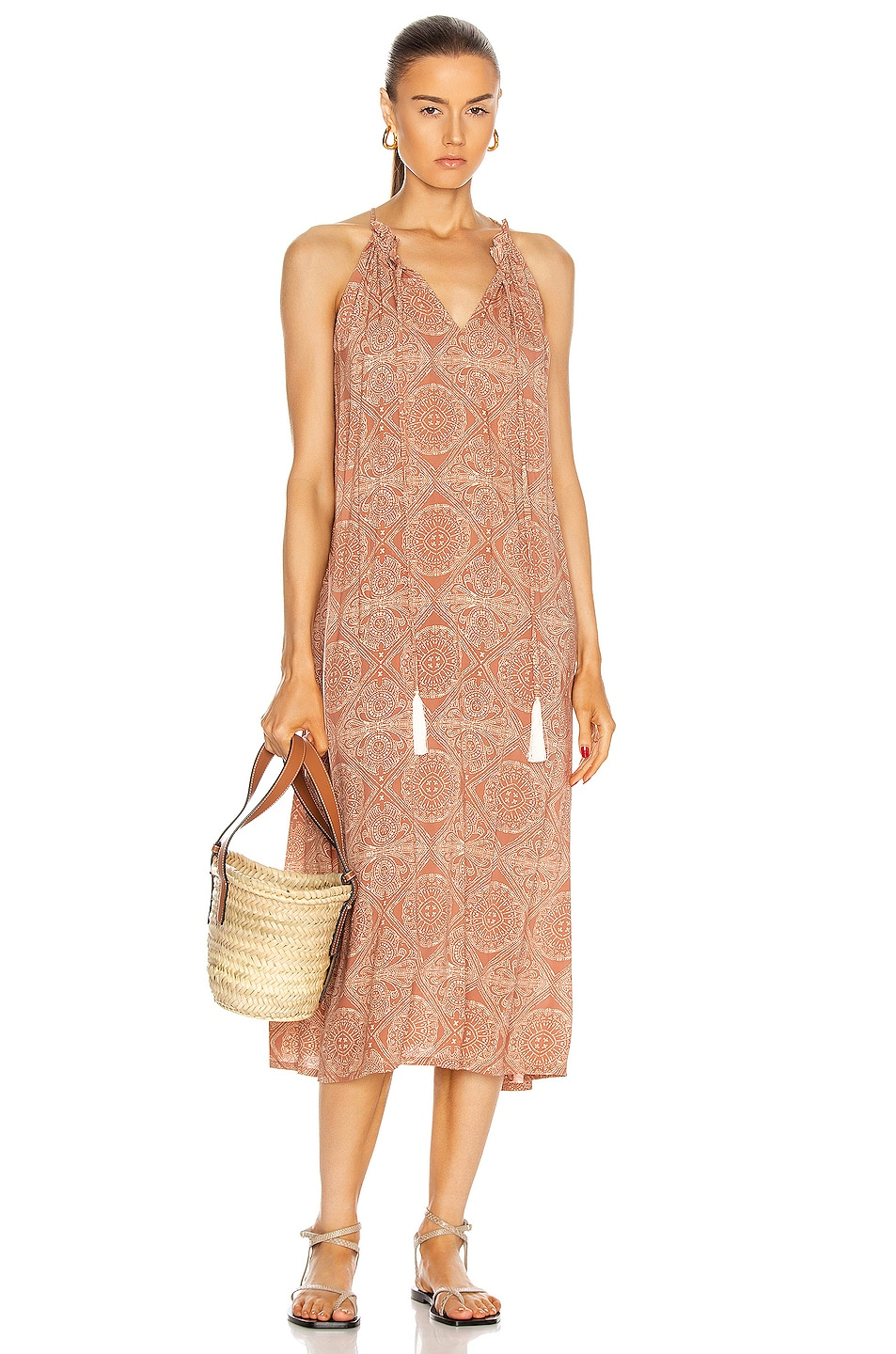 Image 1 of Natalie Martin Marlien Maxi Dress in Moroccan Tile Clay
