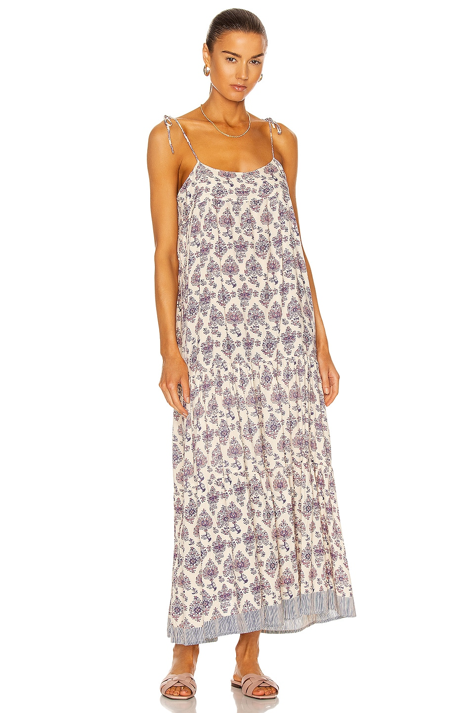 Image 1 of Natalie Martin Melanie Dress in Cyprus Print Lilac