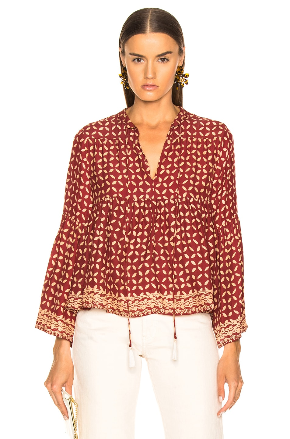 Image 1 of Natalie Martin Jerusha Top in Sand Dollar Red