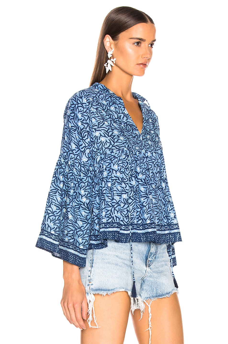 Image 2 of Natalie Martin Jerusha Top in Blue Coral
