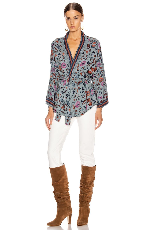 Image 4 of Natalie Martin Saylor Kimono Top in Wildflower Slate