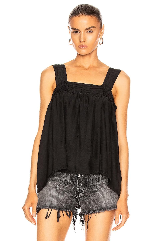 Image 1 of Natalie Martin Jasmine Top in Black Silk