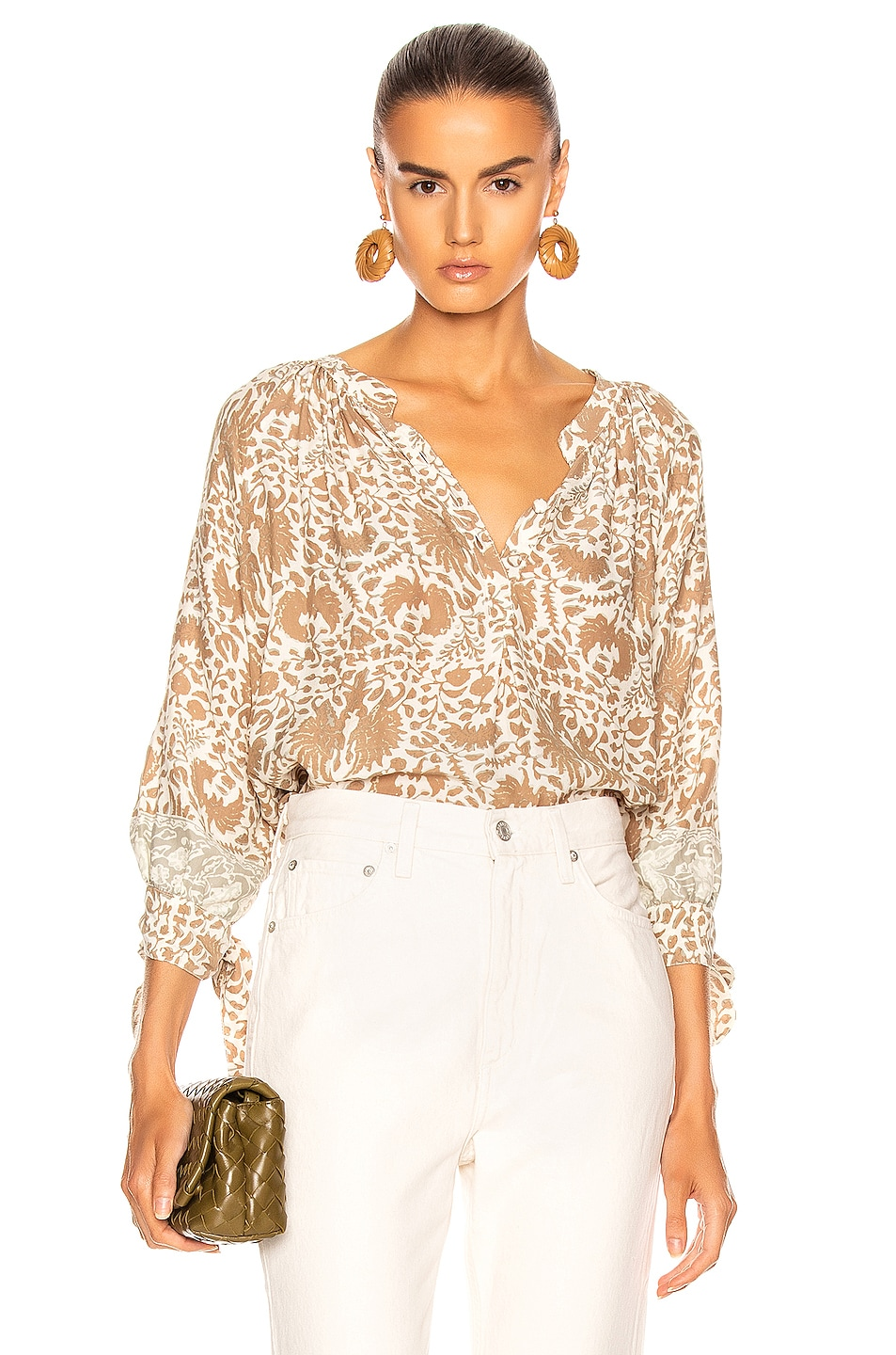 Image 1 of Natalie Martin Renata Shirt in Wing Print Paros Tan