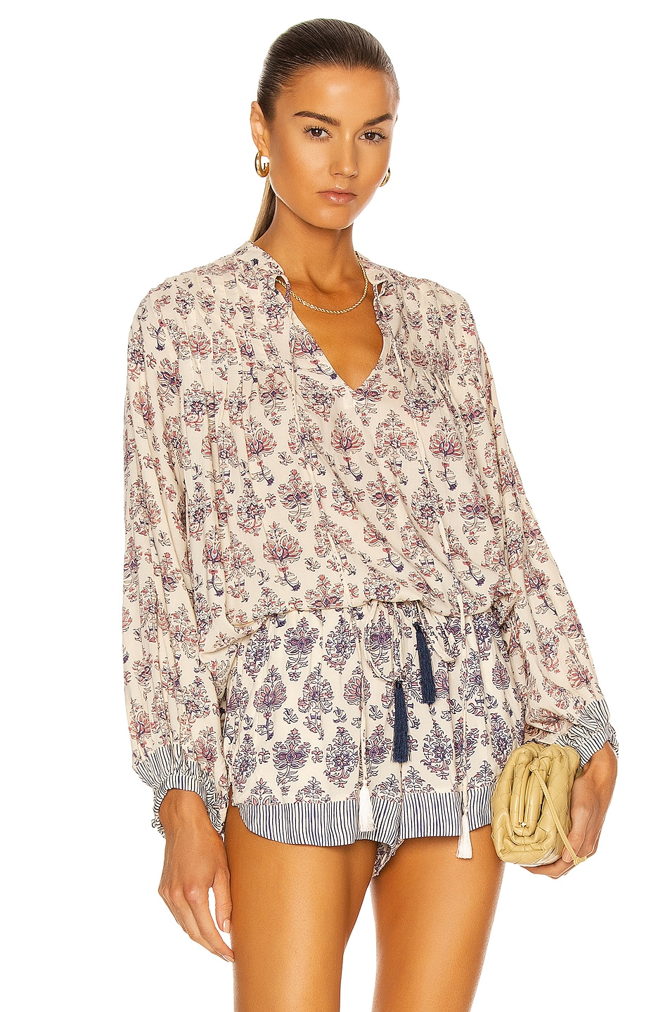 Image 1 of Natalie Martin Lizzy Shirt in Cyprus Print Lilac