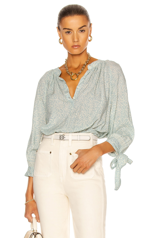 Image 1 of Natalie Martin Renata Shirt in Coral Light Blue