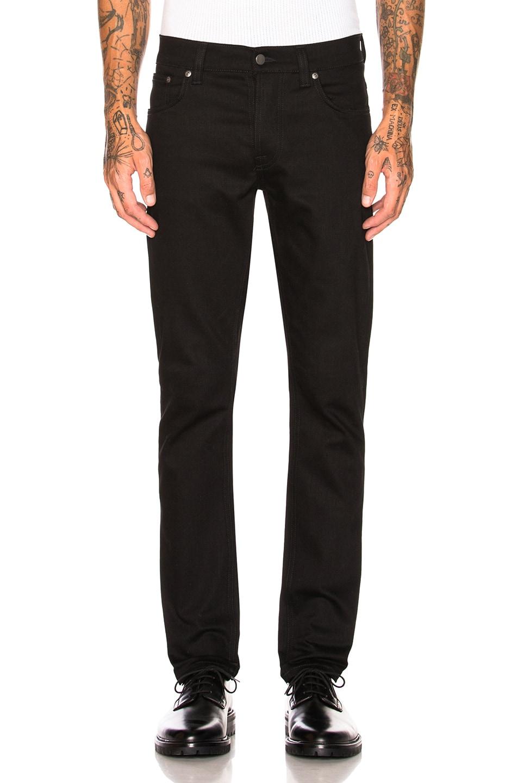 Image 1 of Nudie Jeans Grim Tim in Org. Dry Cold Black