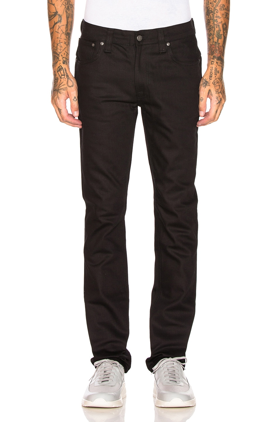 Image 1 of Nudie Jeans Thin Finn in Org. Dry Cold Black