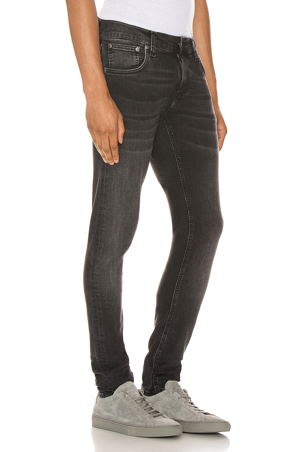 Image 2 of Nudie Jeans Tight Terry in Black Treats