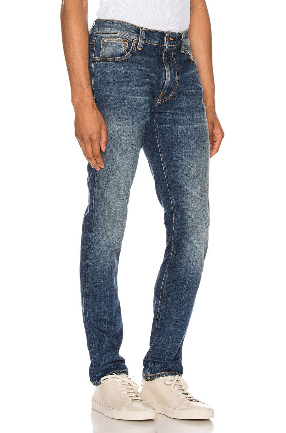 Image 2 of Nudie Jeans Lean Dean in Indigo Shades
