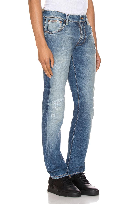 Image 2 of Nudie Jeans Thin Finn in Authentic Repair