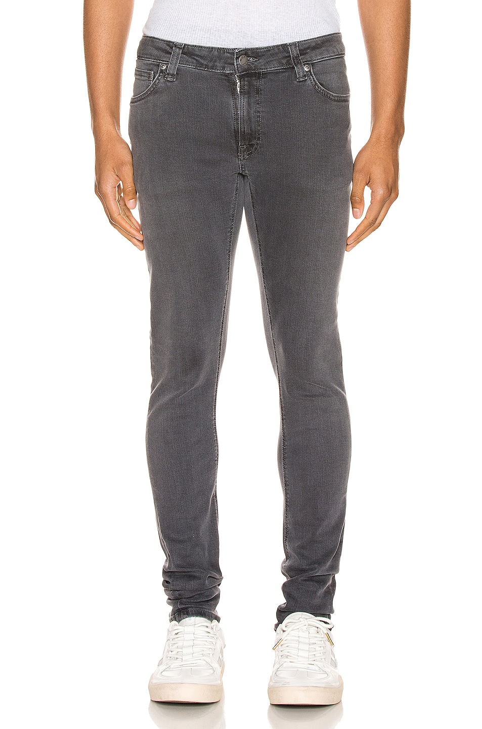 Image 1 of Nudie Jeans Skinny Lin in Concrete Grey