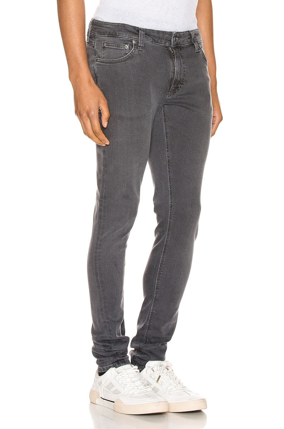 Image 2 of Nudie Jeans Skinny Lin in Concrete Grey