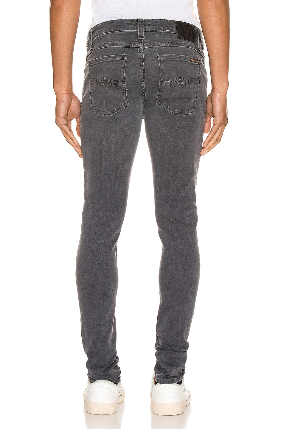 Image 3 of Nudie Jeans Skinny Lin in Concrete Grey