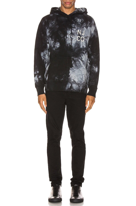 Image 4 of Nudie Jeans Marcus Tie Dye Hoodie in Multi