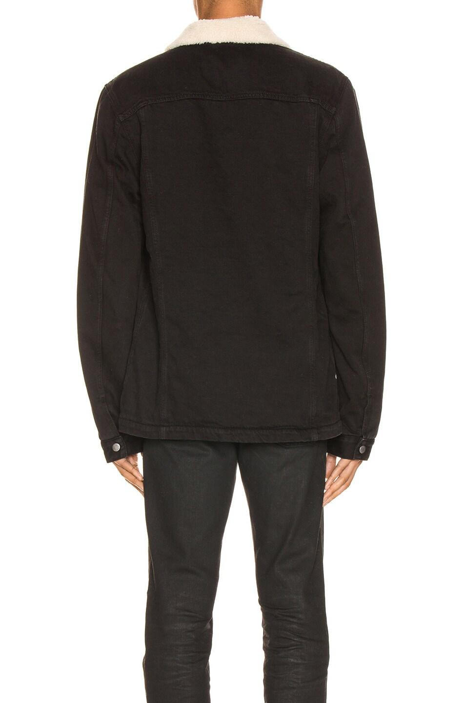 Image 4 of Nudie Jeans Lenny Jacket in Black Worn