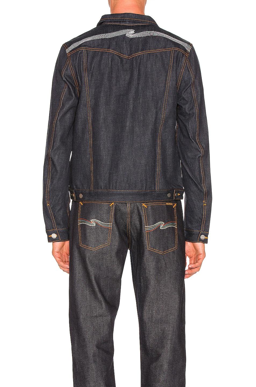 Image 3 of Nudie Jeans Kenny Jean Jacket in Dry Ecru Embo