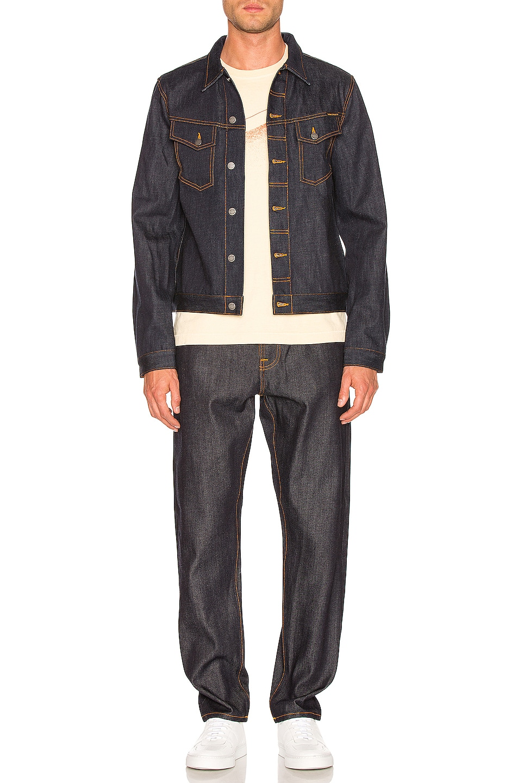 Image 4 of Nudie Jeans Kenny Jean Jacket in Dry Ecru Embo
