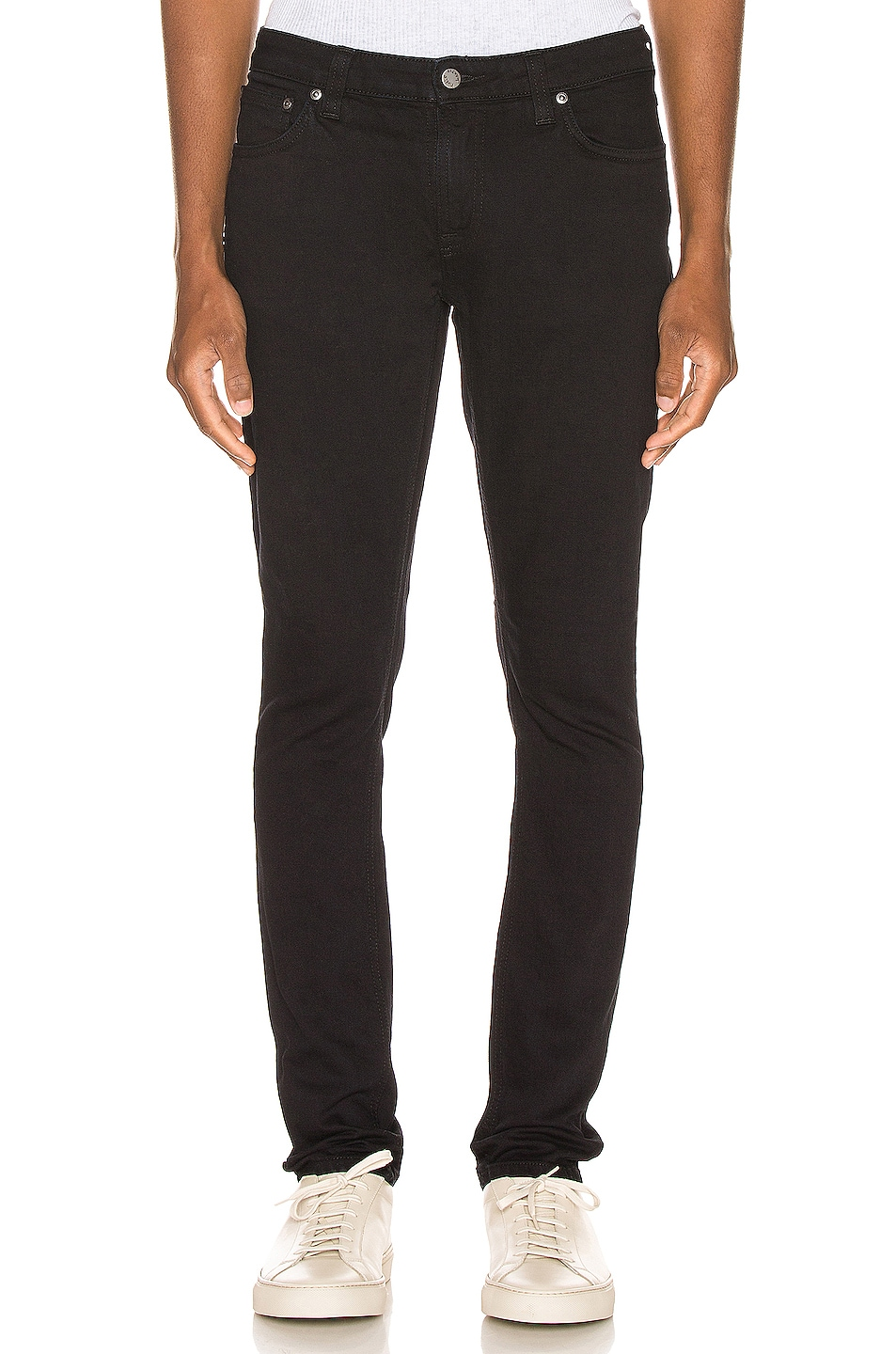 Image 1 of Nudie Jeans Skinny Lin in Black Black