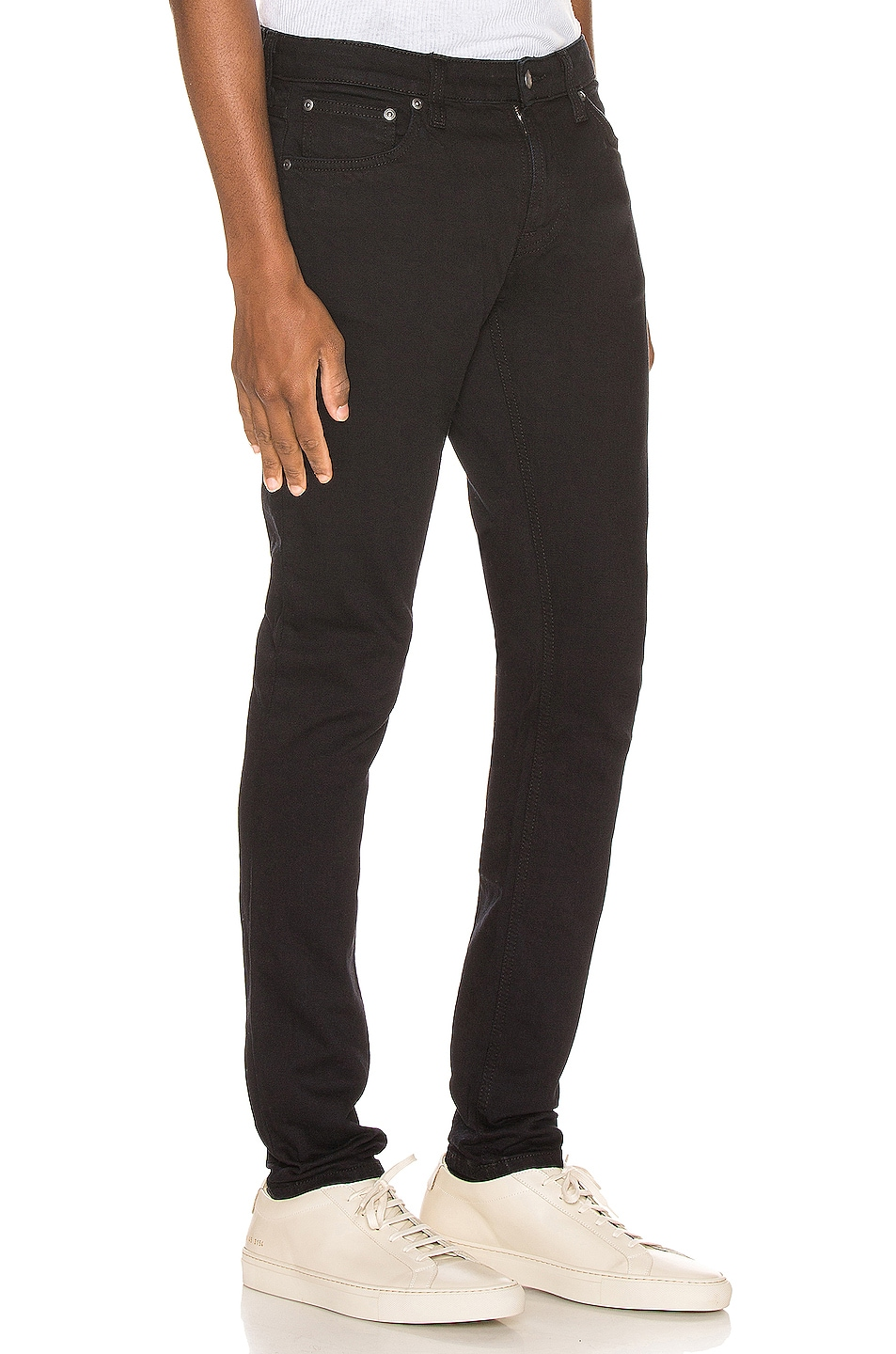 Image 2 of Nudie Jeans Skinny Lin in Black Black