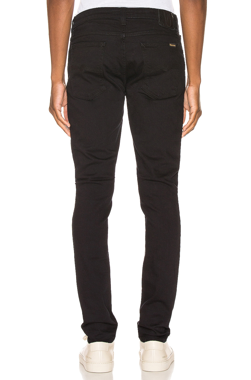 Image 3 of Nudie Jeans Skinny Lin in Black Black