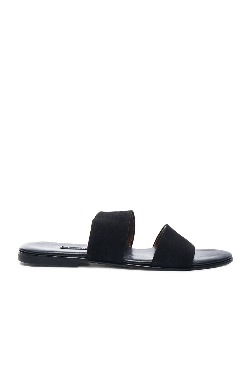 Image 1 of Newbark Roma IV Suede Sandals in Black Suede