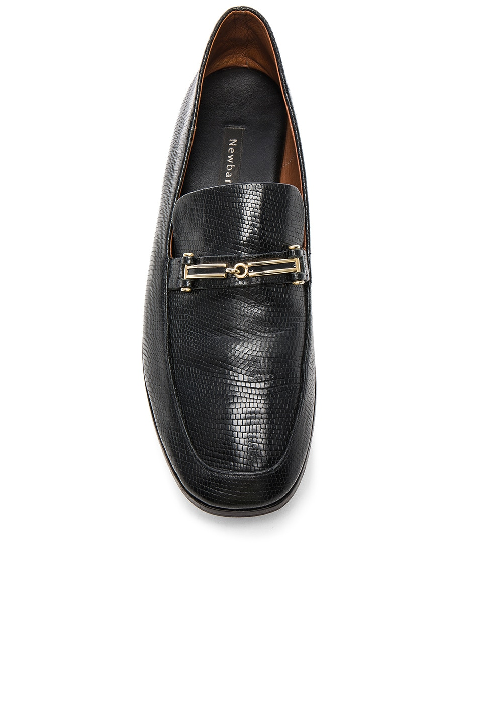 fb98249a926 Image 4 of Newbark Melanie Loafers in Black Embossed Lizard